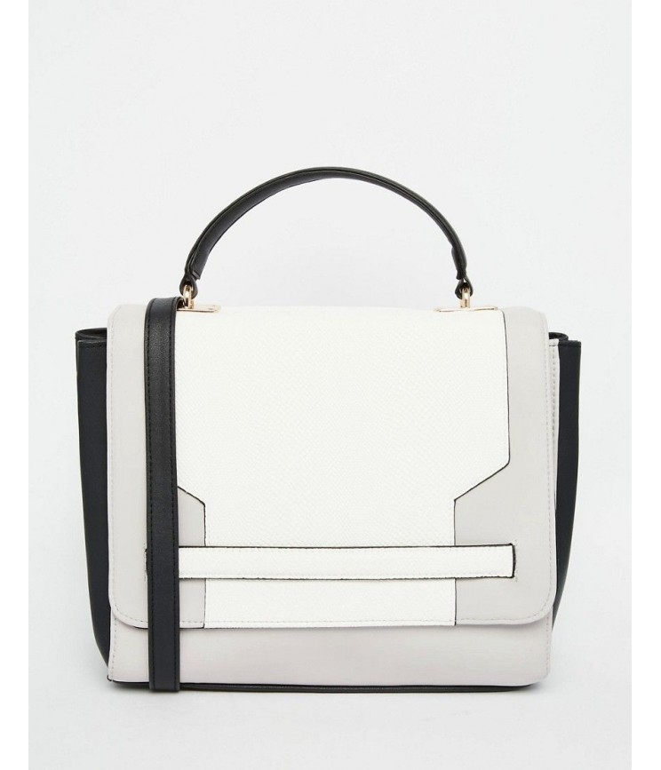 Blocked Handheld Bag