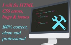 FAST fixing  any bug issue in Php,Html,Css