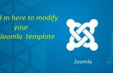 Modify Joomla template or fix your Joomla issue