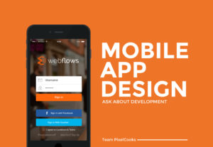 Mobile app interface design