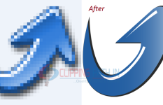 Convert low resolution logo into high resolution vector