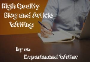 Quality 500 word blog posts/web content/articles