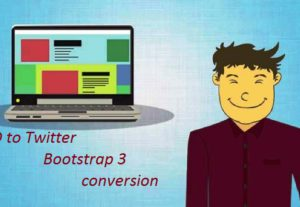 Provide you PSD to Twitter Bootstrap 3 conversion – 1 page