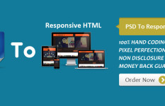 Convert PSD to Responsive HTML5 with in 24 hours
