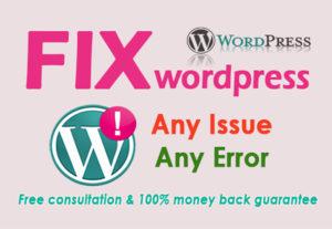 WordPress Blank Page Error Issue Fixing