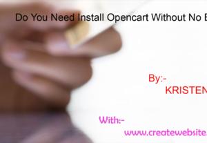 Install opencart, fix OpenCart Errors, Bug