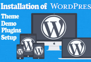 Installation of WordPress including plugins