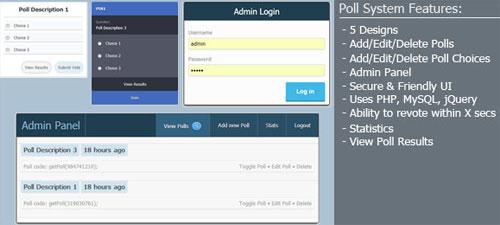 Advanced PHP Ajax Poll System
