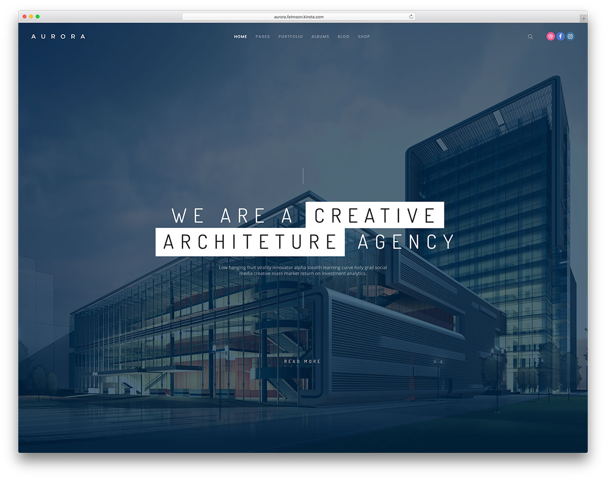 30 architecture responsive wordpress themes for architect for Best architect websites