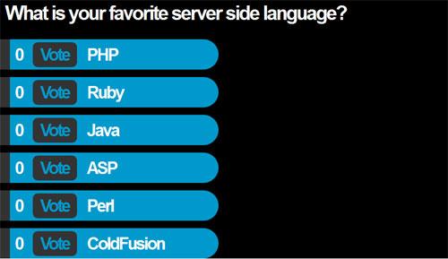 jQuery Vote for favorite server side language