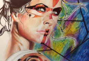 Create water color, pencil, charcoal or pen drawing