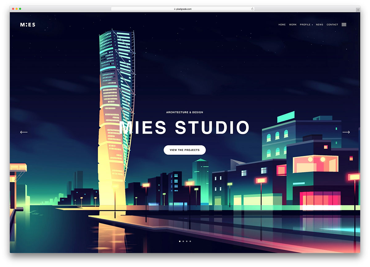 30 architecture responsive wordpress themes for architect for Architectural websites