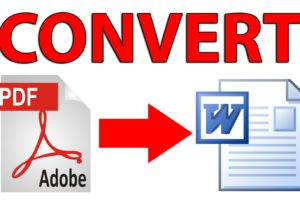 Convert PDF to Word editable text