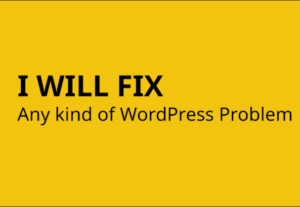 Fix And Resolve Any WordPress Issue Or Error