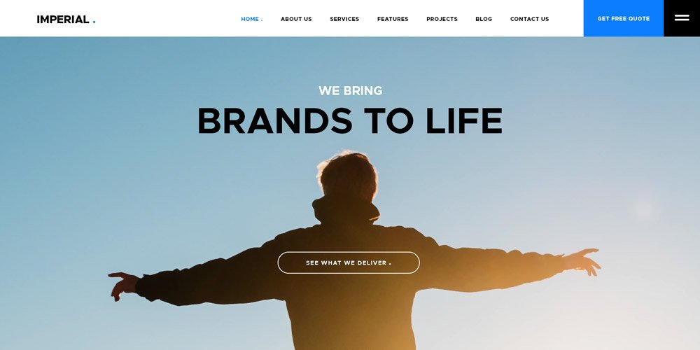 Imperial Free Website Template PSD