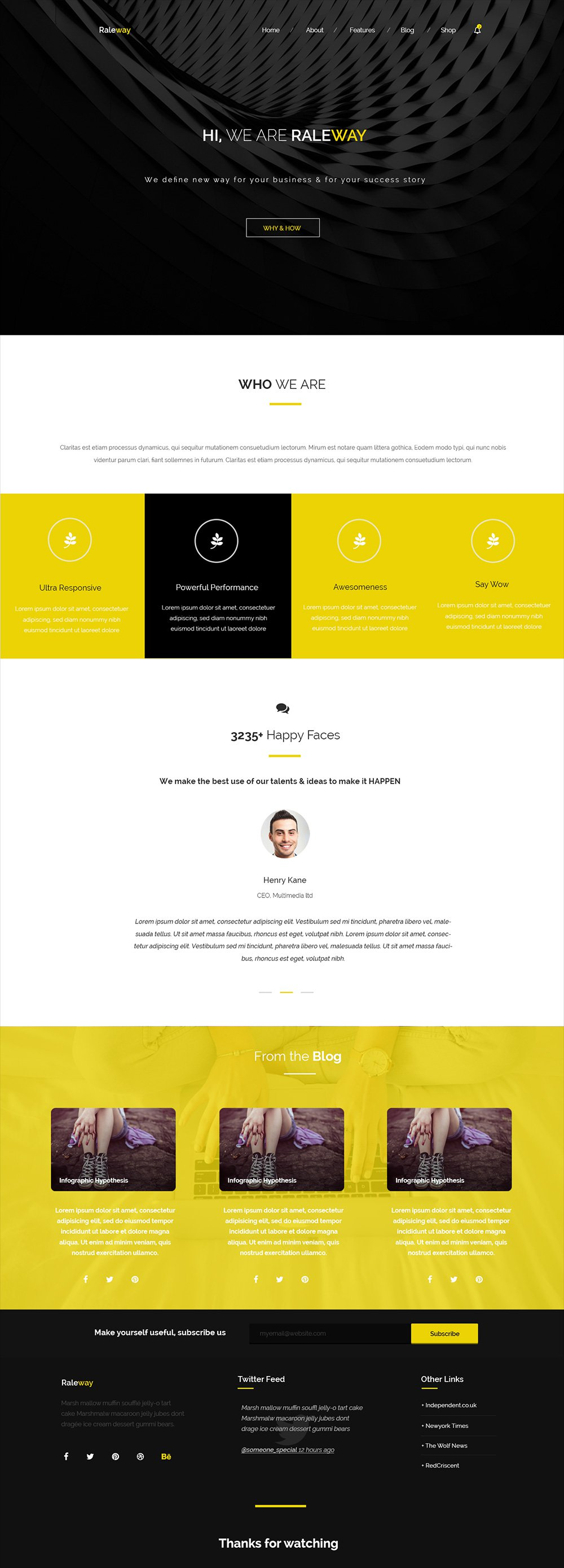 Raleway – Free Web Template for Corporate Agency