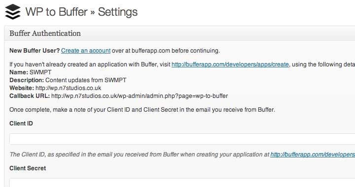 WordPress to Buffer